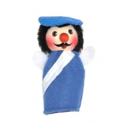 Fingerpuppe - Polizist blau