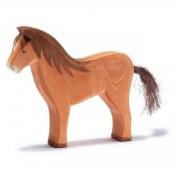 Holztier: Pferd braun