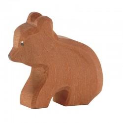 Holztier: Bär klein sitzend
