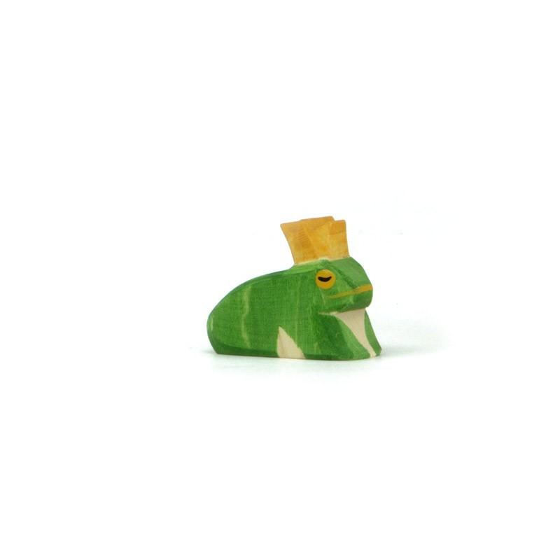 Holzfigur: Froschkönig