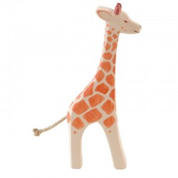 Holztier: Giraffe groß stehend