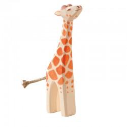 Holztier: Giraffe klein Kopf hoch