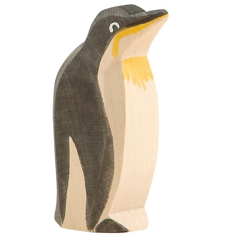 Holztier: Pinguin Schnabel hoch