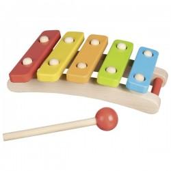 Holz-Xylophon mit 5 Tönen
