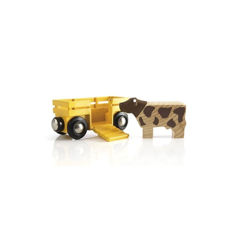 BRIO - Tierwagen mit Kuh