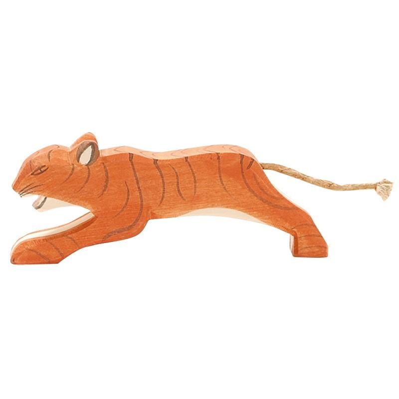 Holztier: Tiger springend