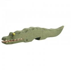 Holztier: Krokodil