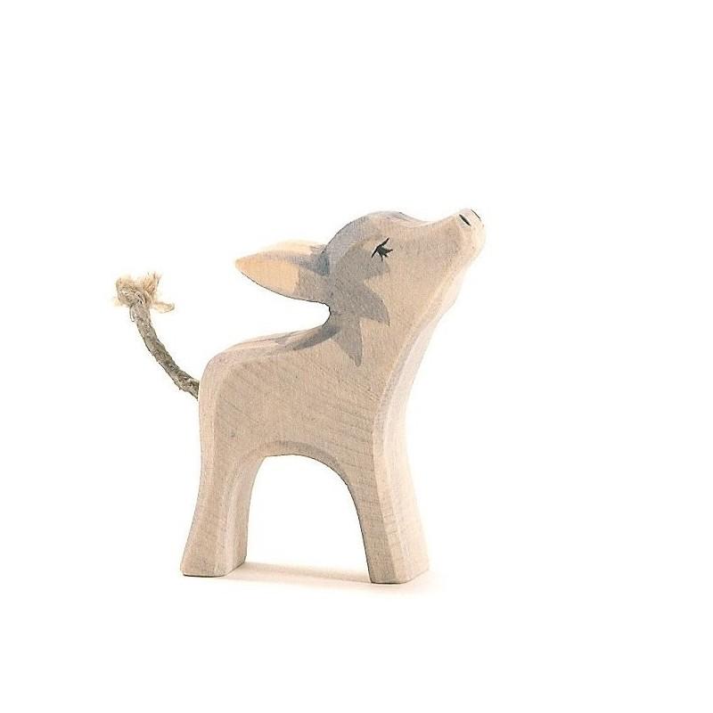 Holztier: Esel klein Kopf hoch