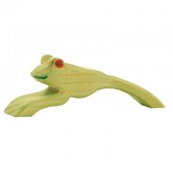 Holztier: Frosch springend