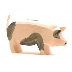 Holztier: Schwein gefleckt